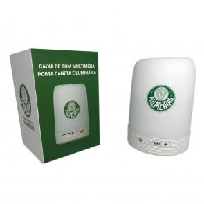 Caixa de Som Multimídia com Porta Caneta e Luminária Palmeiras